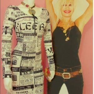 Betsey Johnson Newspaper Dress